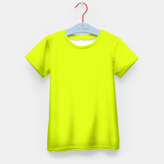 Lime Flat Color Kid's T-shirt obraz miniatury
