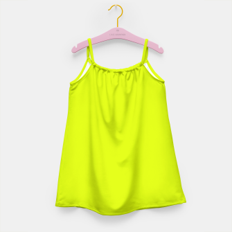 Lime Flat Color Girl's Dress obraz miniatury