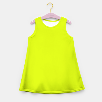 Lime Flat Color Girl's Summer Dress obraz miniatury