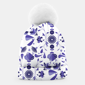 Thumbnail image of Blue Bohoo Pattern Beanie, Live Heroes