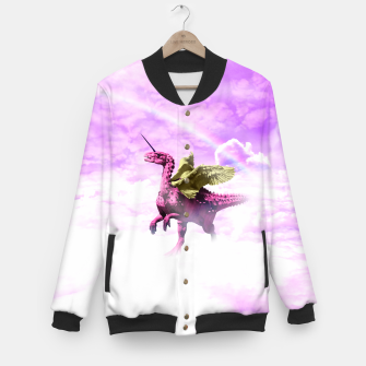 Thumbnail image of Pink Lovely Dinosaur ♥ [Crazy Wildlife] Veste de baseball, Live Heroes