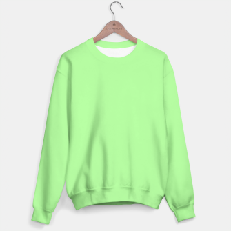 Miniatur Pale Green Flat Color Sweater, Live Heroes