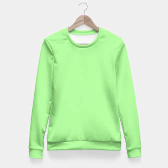 Miniatur Pale Green Flat Color Fitted Waist Sweater, Live Heroes