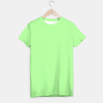 Thumbnail image of Pale Green Flat Color T-shirt, Live Heroes