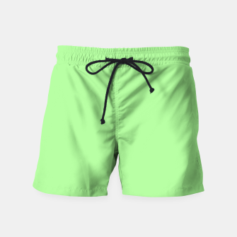 Thumbnail image of Pale Green Flat Color Swim Shorts, Live Heroes