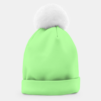 Thumbnail image of Pale Green Flat Color Beanie, Live Heroes