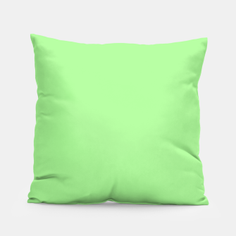 Thumbnail image of Pale Green Flat Color Pillow, Live Heroes