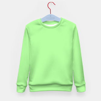 Miniatur Pale Green Flat Color Kid's Sweater, Live Heroes