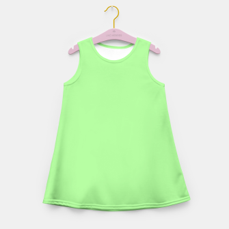 Thumbnail image of Pale Green Flat Color Girl's Summer Dress, Live Heroes