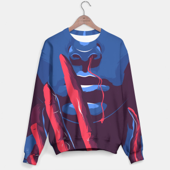 Thumbnail image of Stranger Things Sweater, Live Heroes