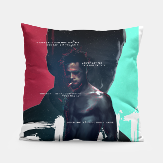 Thumbnail image of Fight Club - Alternative movie poster Pillow, Live Heroes