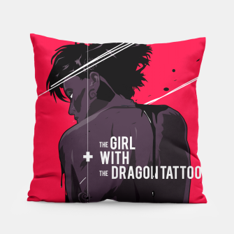 The Girl with Dragon Tatoo Pillow thumbnail image
