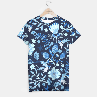 Thumbnail image of Blue Winter Flowers T-Shirt, Live Heroes
