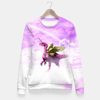 Pink Lovely Dinosaur ♥ [Crazy Wildlife] Pull ajusté thumbnail image