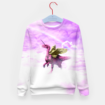 Thumbnail image of Pink Lovely Dinosaur ♥ [Crazy Wildlife] Enfantin Sweat-shirt, Live Heroes