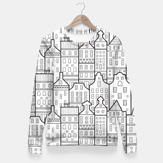 Miniaturka Amsterdam Houses Drawing Fitted Waist Sweater, Live Heroes