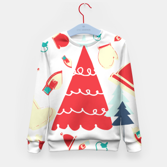 Thumbnail image of Christmas Tree red Kid's Sweater, Live Heroes