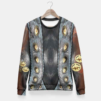 Thumbnail image of Wheels of time Fitted Waist Sweater, Live Heroes