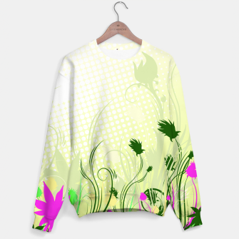 Fantasy abstract flowers Sweater thumbnail image