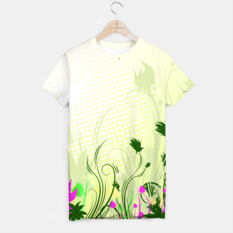 Thumbnail image of Fantasy abstract flowers T-shirt, Live Heroes