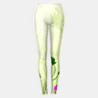 Fantasy abstract flowers Leggings thumbnail image