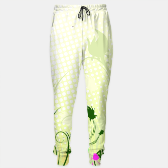 Thumbnail image of Fantasy abstract flowers Sweatpants, Live Heroes