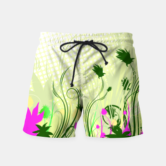 Fantasy abstract flowers Swim Shorts thumbnail image