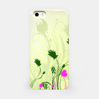 Fantasy abstract flowers iPhone Case thumbnail image