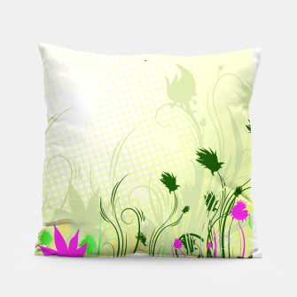 Fantasy abstract flowers Pillow thumbnail image