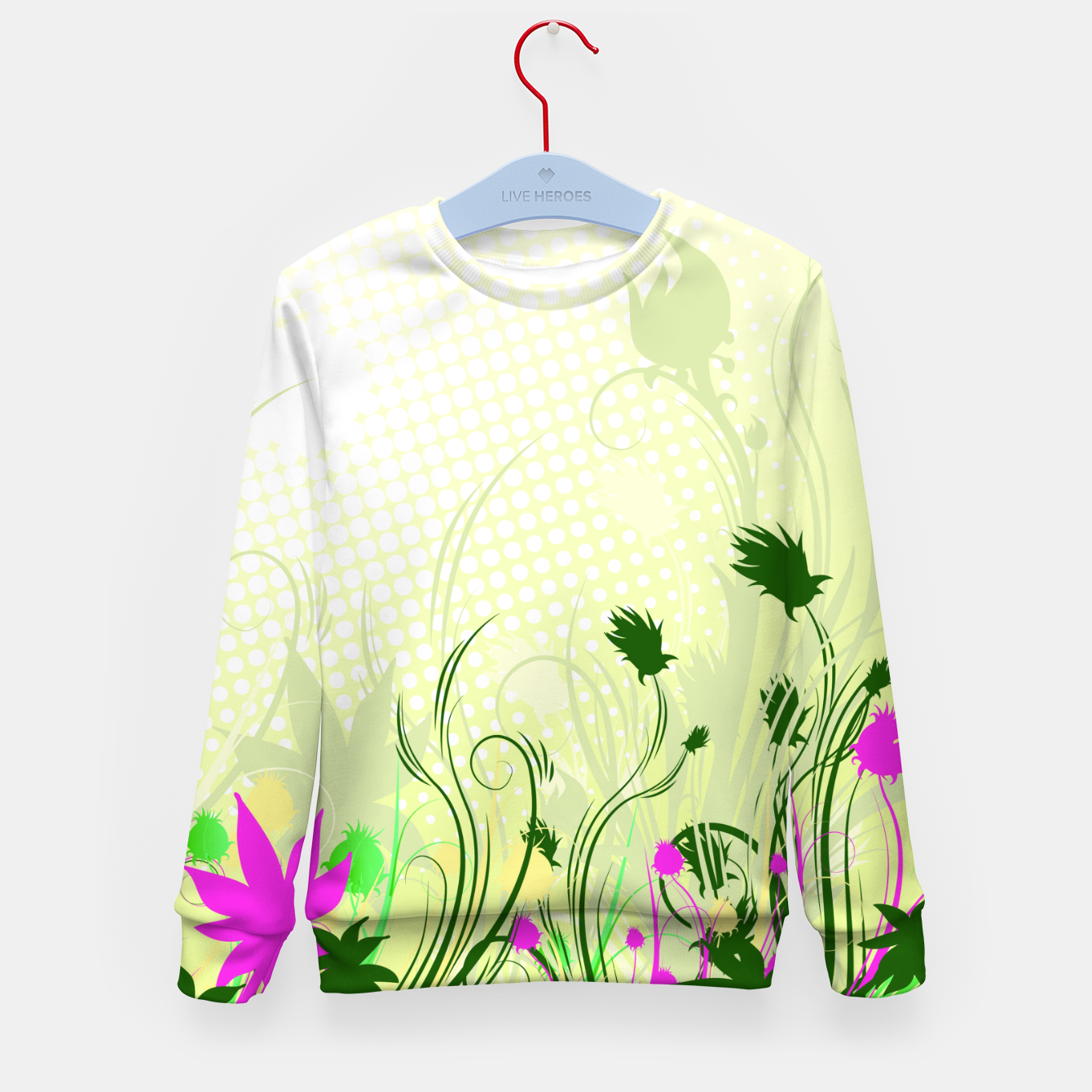 Image of Fantasy abstract flowers Kid's Sweater - Live Heroes