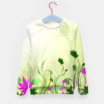 Thumbnail image of Fantasy abstract flowers Kid's Sweater, Live Heroes