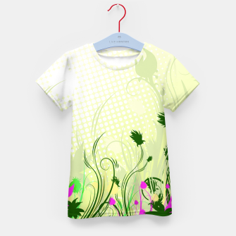 Fantasy abstract flowers Kid's T-shirt thumbnail image