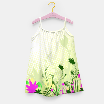 Fantasy abstract flowers Girl's Dress thumbnail image