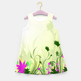 Fantasy abstract flowers Girl's Summer Dress thumbnail image