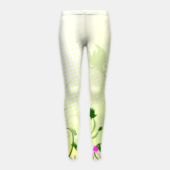 Fantasy abstract flowers Girl's Leggings thumbnail image