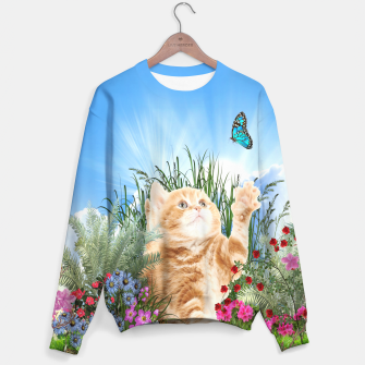 Butterfly playing with kitty Sweater thumbnail image