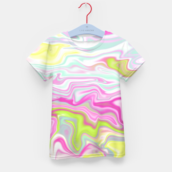 Thumbnail image of Colorful Iridescent Marble Design T-Shirt für Kinder, Live Heroes
