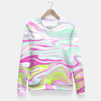 Thumbnail image of Colorful Iridescent Marble Design Taillierte Sweatshirt, Live Heroes