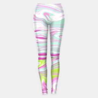 Thumbnail image of Colorful Iridescent Marble Design Leggings, Live Heroes