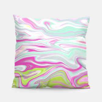 Thumbnail image of Colorful Iridescent Marble Design Kissen, Live Heroes