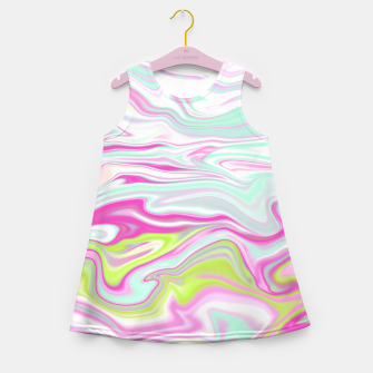 Thumbnail image of Colorful Iridescent Marble Design Mädchen-Sommerkleid, Live Heroes