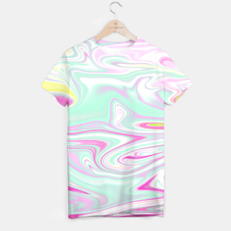 Thumbnail image of Colorful Iridescent Marble Design T-Shirt, Live Heroes