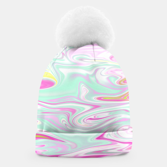 Thumbnail image of Colorful Iridescent Marble Design Mütze, Live Heroes