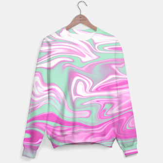 Thumbnail image of Colorful Iridescent Marble Design Sweatshirt, Live Heroes