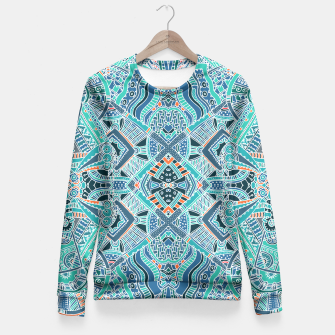 Thumbnail image of Trendy Colorful Ethno Design Taillierte Sweatshirt, Live Heroes