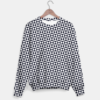 Basic Shapes Black and White Sweater obraz miniatury