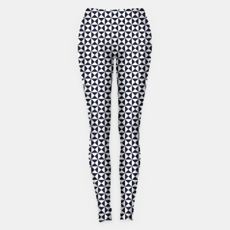 Basic Shapes Black and White Leggings obraz miniatury