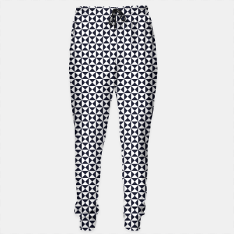 Basic Shapes Black and White Sweatpants obraz miniatury
