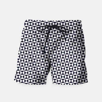 Basic Shapes Black and White Swim Shorts obraz miniatury