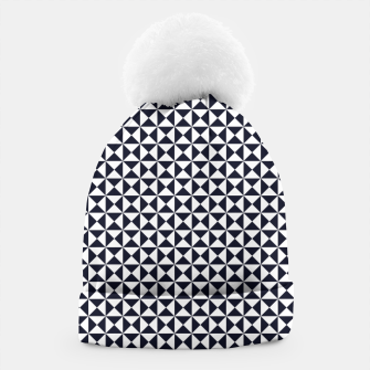 Basic Shapes Black and White Beanie obraz miniatury